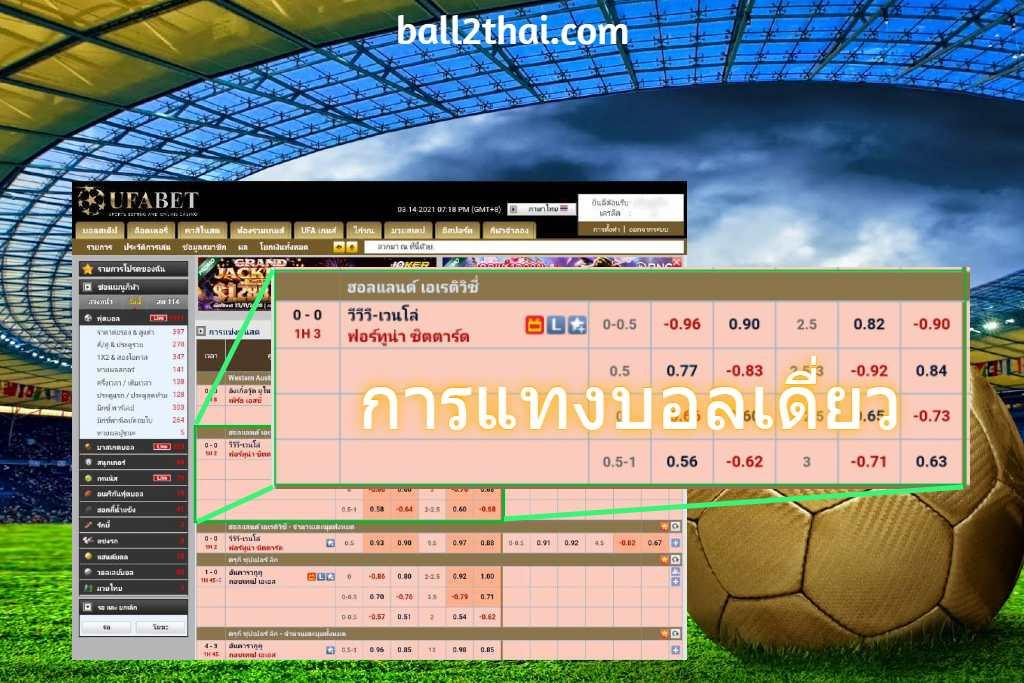 การแทงบอลเดี่ยว หน้าเว็บแทงบอล UFABET